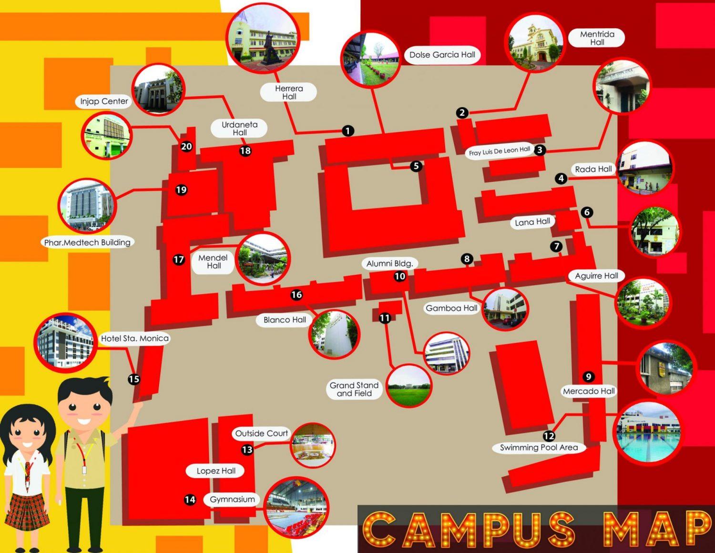 University of San Agustin Man Campus Map