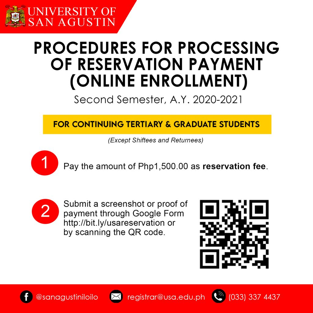 PROCEDURES FOR PROCESSING OF RESERVATION PAYMENT