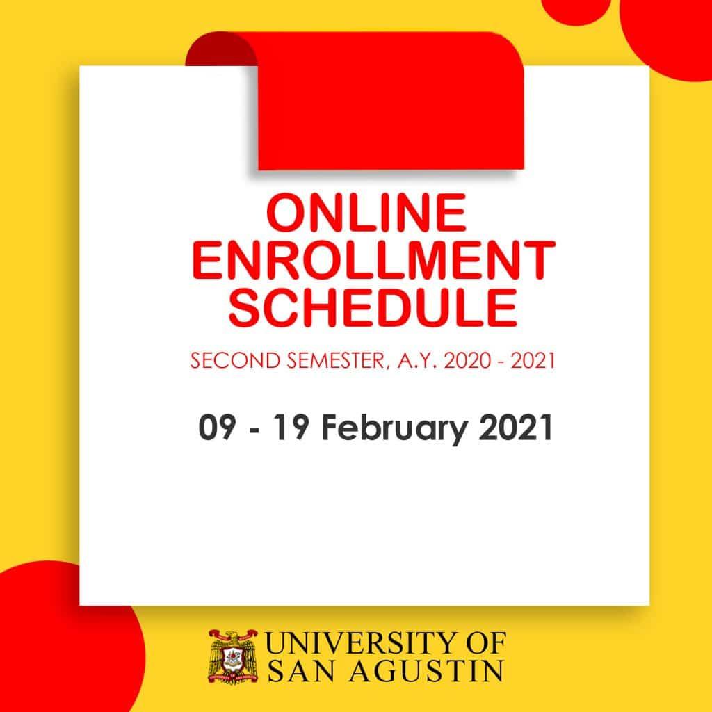 Enrollment Schedule-University of San Agustin