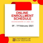 Enrollment Schedule-University of San Agustin