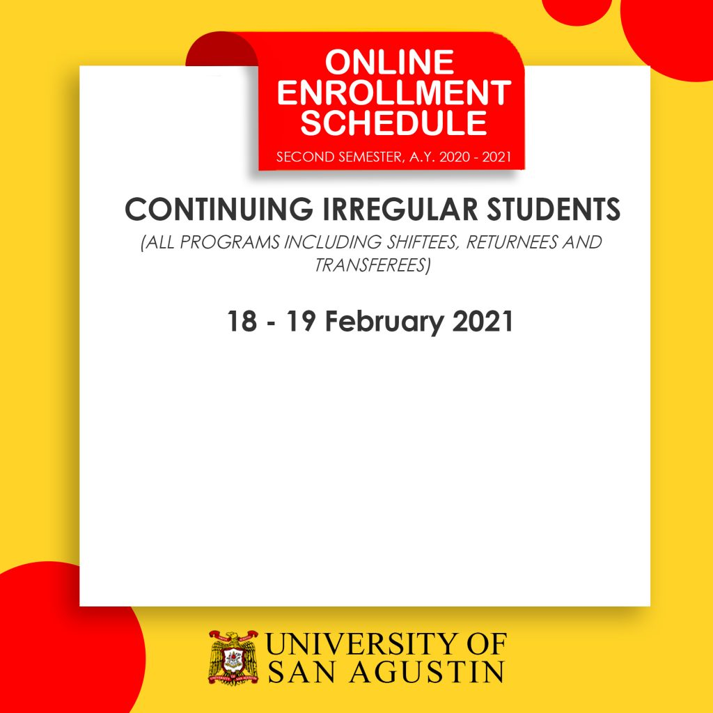 Enrollment Schedule - Irregular