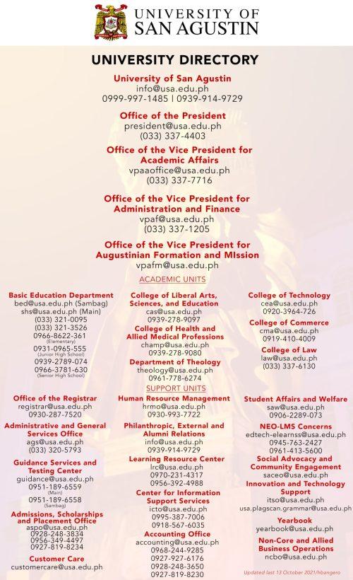 University Directory October