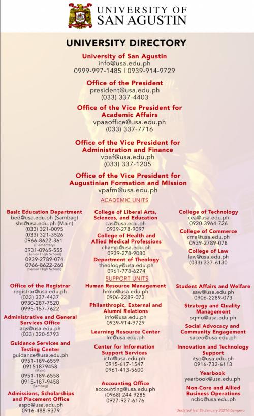 University of San Agustin_Directory